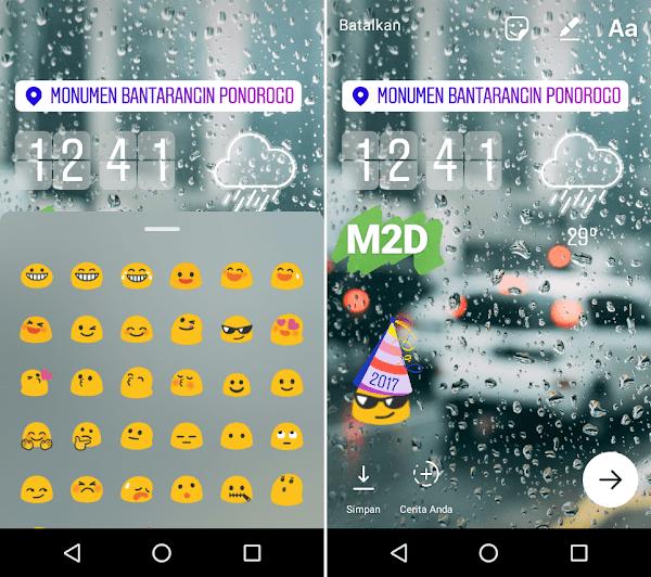 Pakai emoji di Instagram Stories