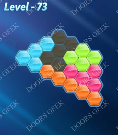 Block! Hexa Puzzle [Rainbow A] Level 73 Solution, Cheats, Walkthrough for android, iphone, ipad, ipod