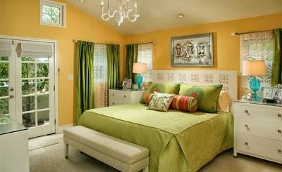 warna cat kamar tidur hijau terang 2