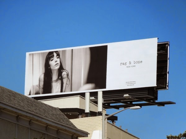 Stacy Martin Rag Bone Spring 2014 billboard