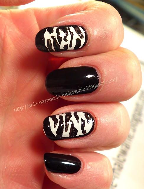 zdobienie paznokci zebra