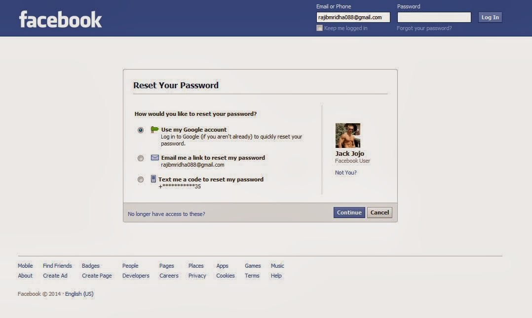 Forgot my password facebook help me
