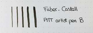 Muestras Faber-Castell PITT B