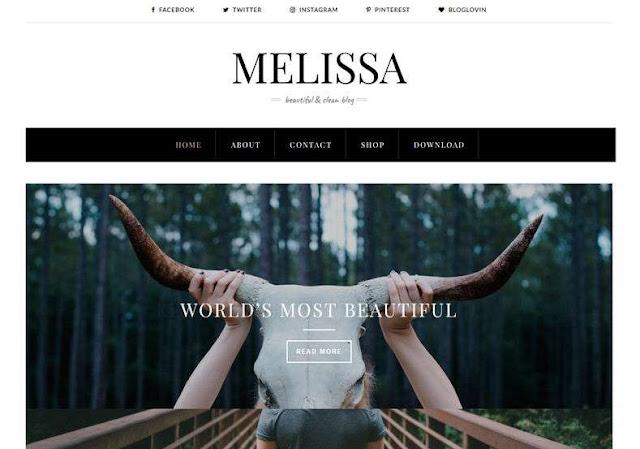 Melissa Blogger Theme