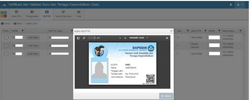 Geveducation:  Vervalptk Update versi 2.3 dan Penambahan Fitur Kartu NUPTK