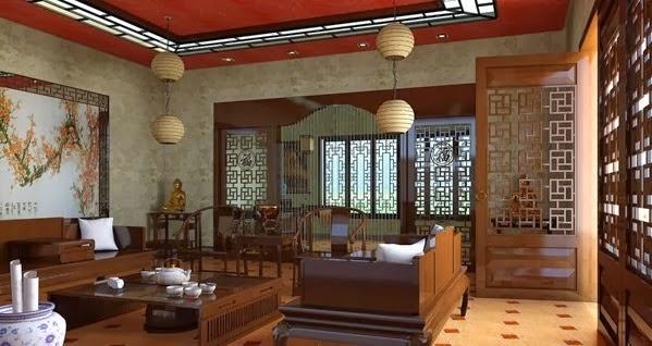Sala de estar estilo chino