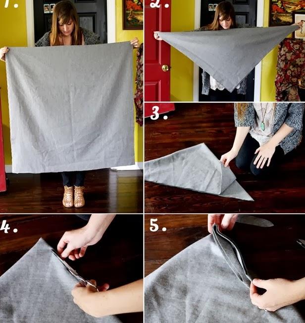 Bayanlar için Yün Kumaştan Panço Modeli - Resimli Anlatım