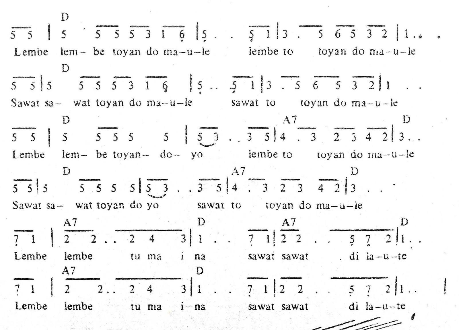 Chord & Arti Lirik Lagu Maluku: Lembe Lembe + Not Angka