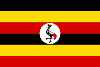 Logo Gambar Bendera Negara Uganda PNG JPG ukuran 400 px