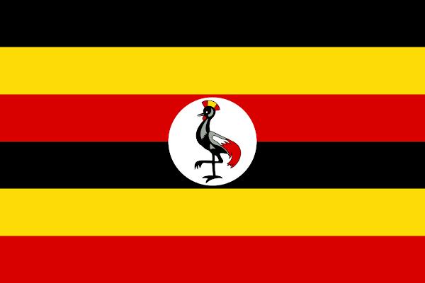 Logo Gambar Bendera Negara Uganda PNG JPG ukuran 600 px