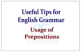 Usage of Prepositions
