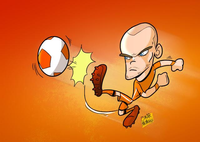 Wesley Sneijder caricature