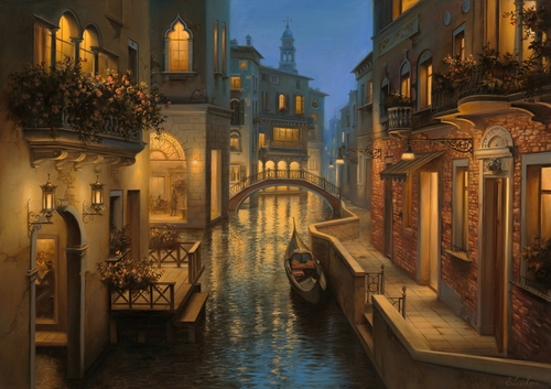 11-Golden-Moment-Evgeny-Lushpin-Scenes-of-Realistic-Night-Time-Paintings-www-designstack-co
