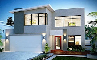example of a minimalist 2-storey house design - Lampung interior house