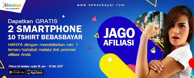 JAGO AFILIASI di BebasBayar, Dapat Smartphone Keren!