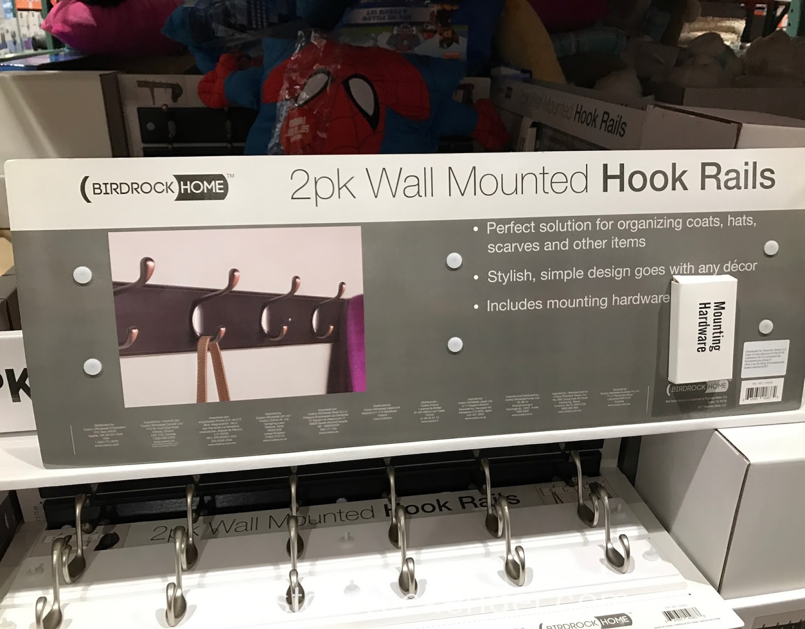 Costco 1164508 - Birdrock Home Wall Mounted Hook Rails: practical and great for any home