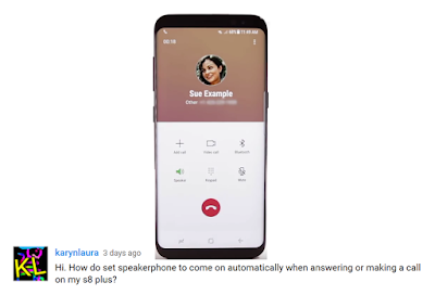Galaxy S8 Speakerphone