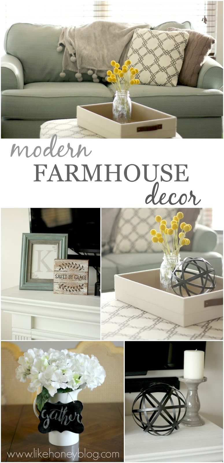 Modern Farmhouse Decor on a Budget - Like Honey