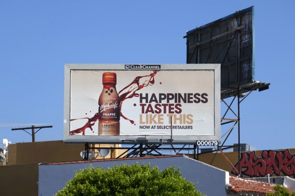 Happiness Tastes McCafe Frappe billboard