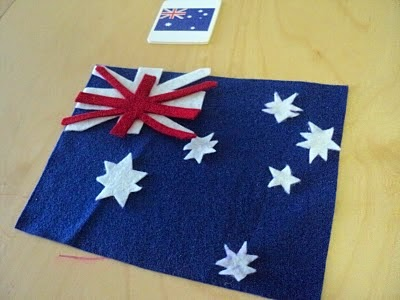 Felt Flag of Australia activity for kids