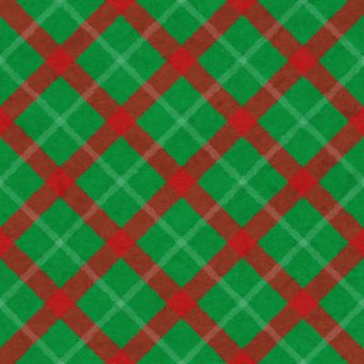 クリスマスのチェックパターン(緑)