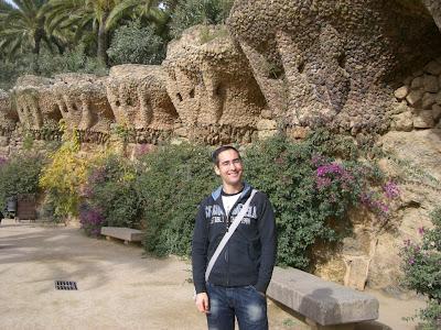 Bird nests designed by Antoni Gaudí in Park Güell
