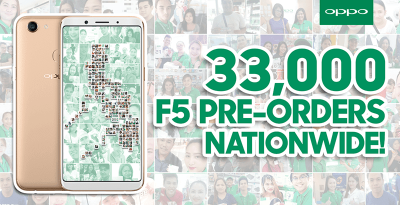 OPPO registered over 33K pre-orders of F5 in just 7 days!