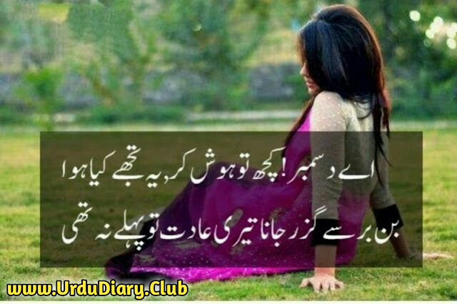 Latest Urdu Sad Poetry - ay december kuch tu hush ker yeh tujhe kya howa