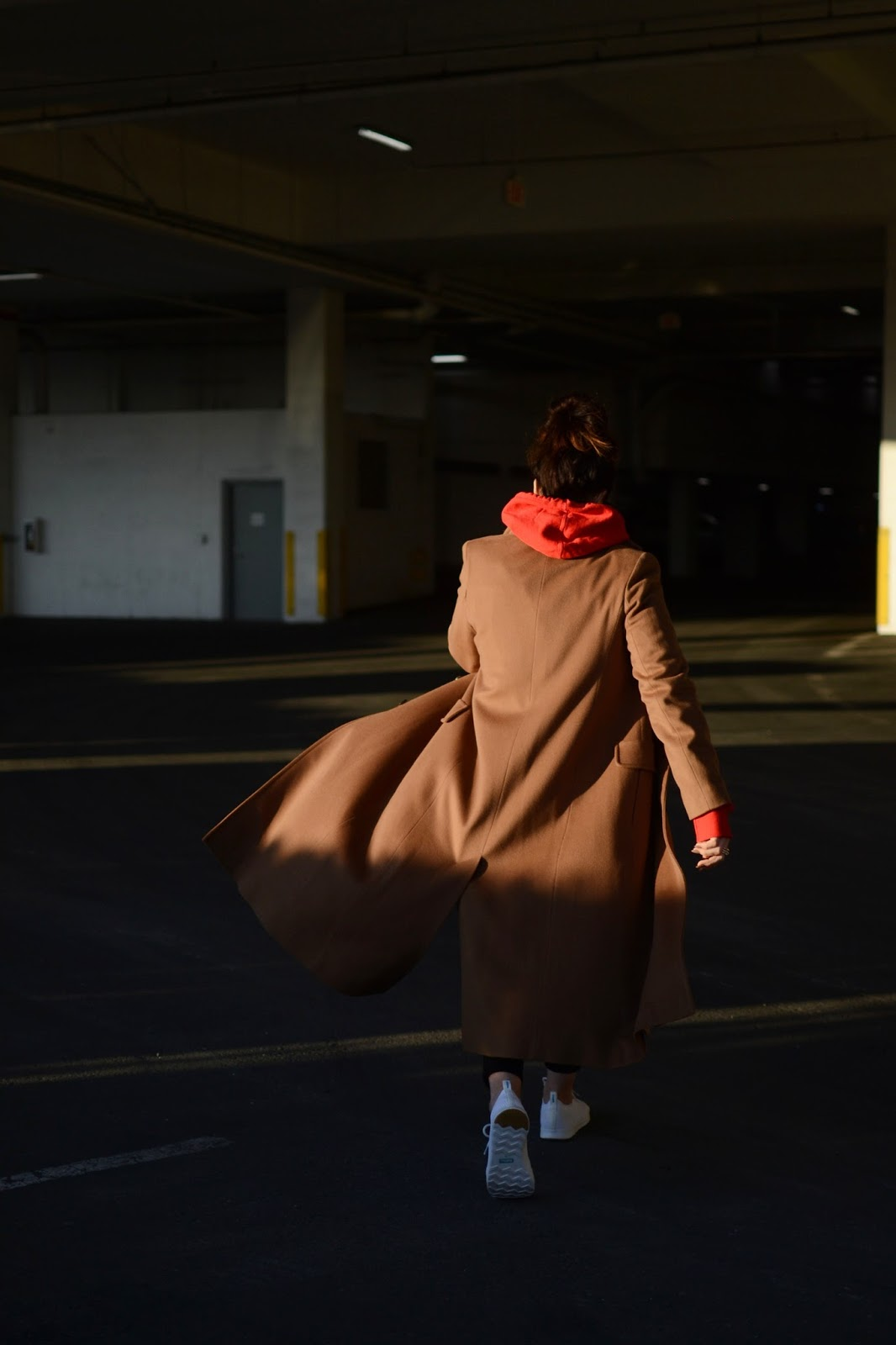 camel wool coat champion hoodie outfit vancouver fashion blogger denim chanel boy bag aleesha harris