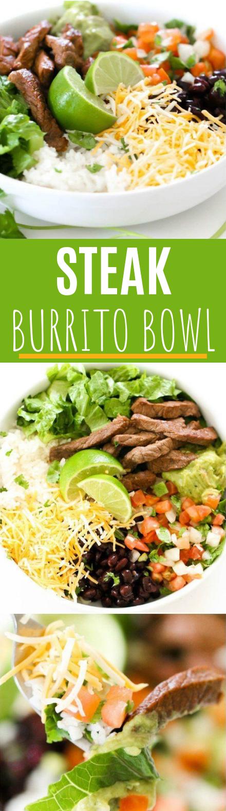 Steak Burrito Bowl #healthy #easy