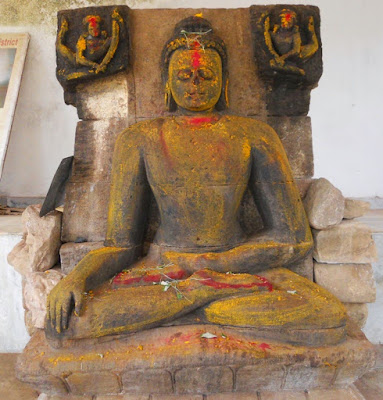 Four Buddha sculptures found in Hyderabad's Khammam district