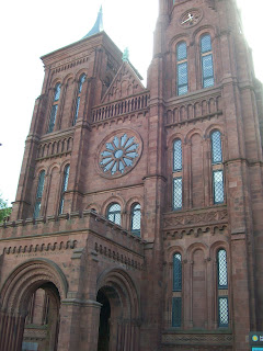 Main entrance to the Smithsonian Castle.