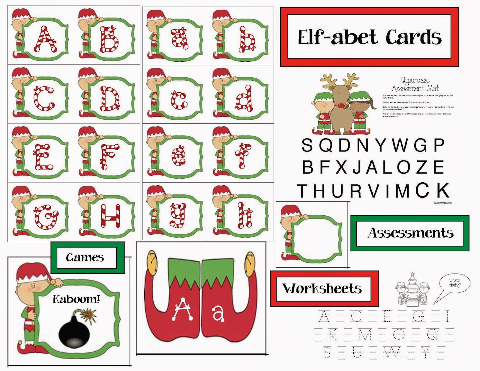 Elf Alphabet Cards