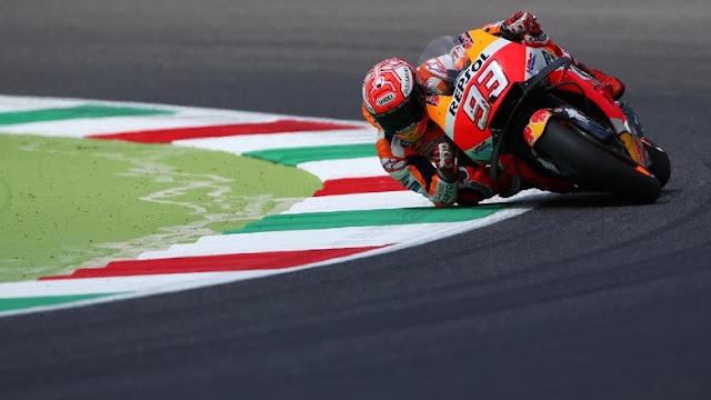 Marquez Terjatuh di MotoGP Italia karena Masalah Ban Depan