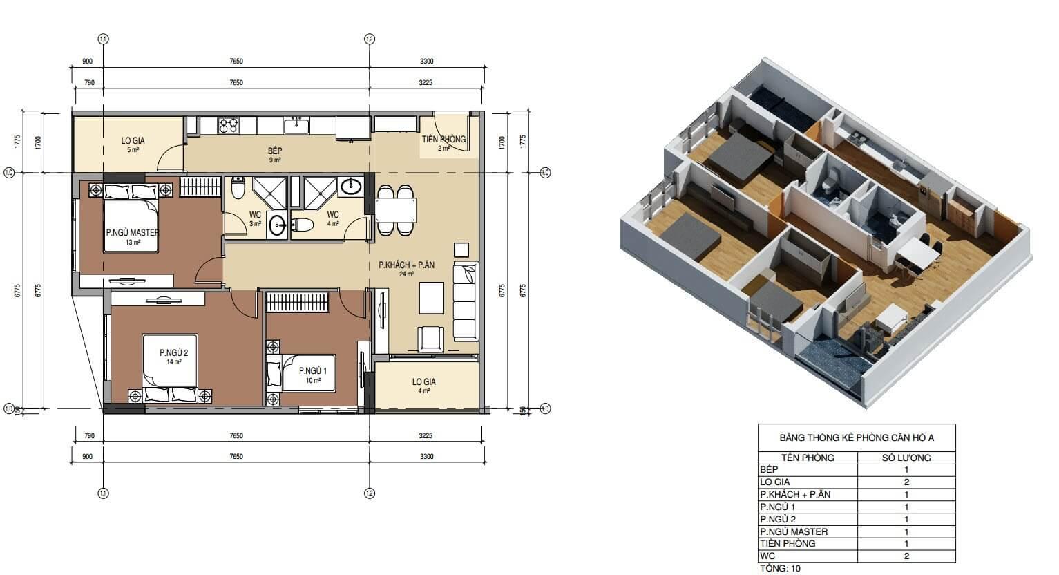 Nên mua các căn hộ có thiết kế hợp lý.