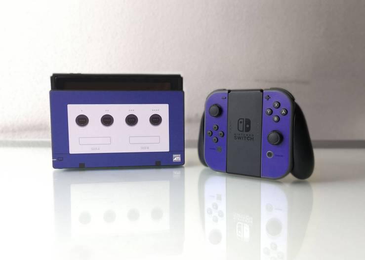 Disfruta de esta skin de Gamecube para Nintendo Switch