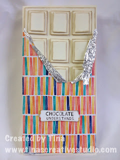 white chocolate block card