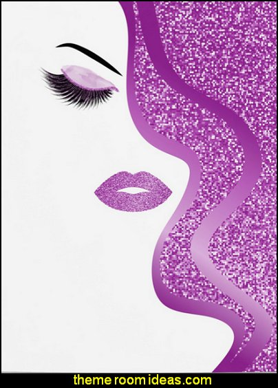 Purple glitter woman Poster  beauty salon theme bedroom ideas - Hair Salon theme decorating ideas - Beauty Salon Decor Ideas - Beauty salon themed bedroom -  decorating ideas beauty salon theme - Makeup Room Decor - hair and make up decorations - Decals for salon - beauty salon theme  makeup-related products - beauty prints and posters - makeup gifts