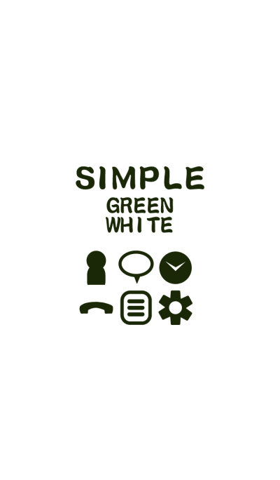 SIMPLE green*white