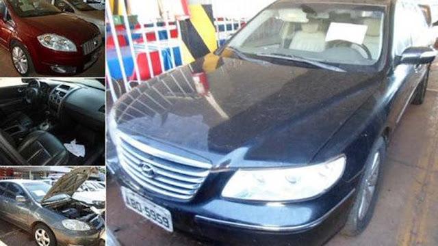 Receita leiloa Corolla, S10 Deluxe e Azera por menos de R$ 10 mil cada