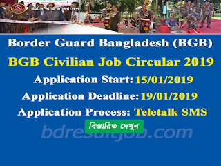 Border Guard Bangladesh (BGB) Civilian Job Circular 2019