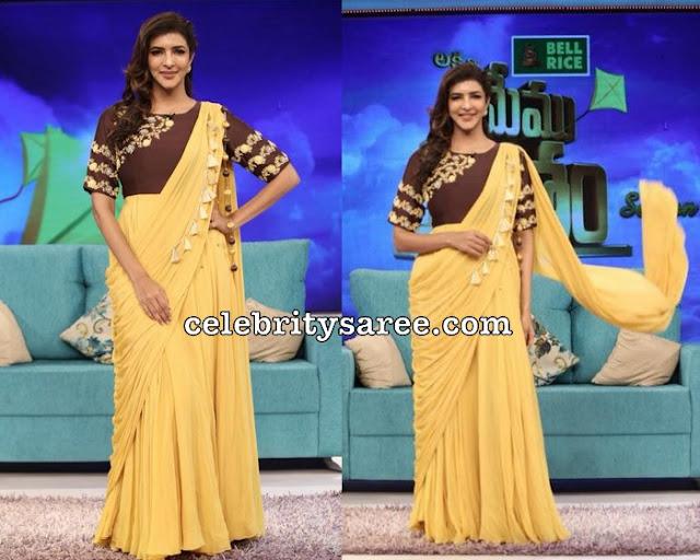 Lakshmi Manchu Designer Stitched Saree