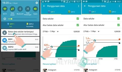 Peringatan Penggunaan Data Android Penuh
