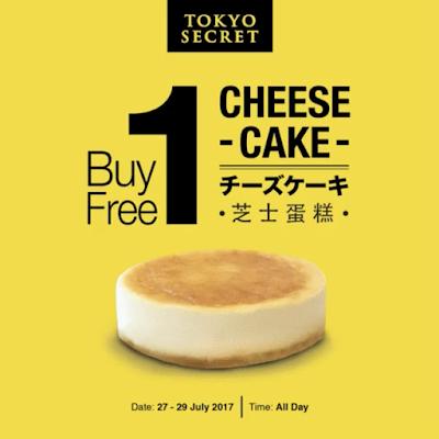 Tokyo Secret Cheesecake Buy 1 Free 1 Promo