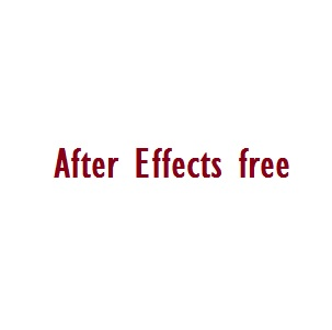 after effect download for free