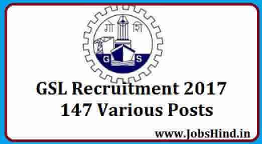GSL Recruitment 2017