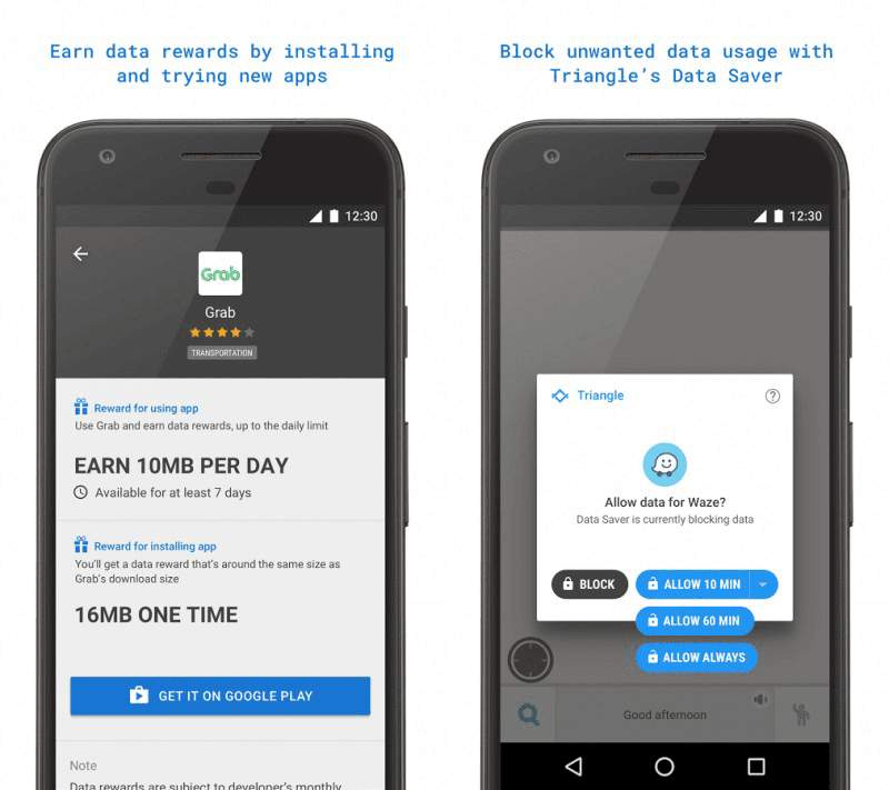 Google Is Testing Triangle In PH, An Experimental Data Daving App