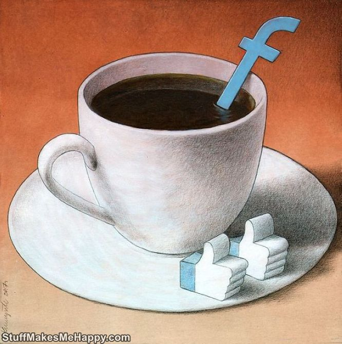 Caustic Illustrations of modern society