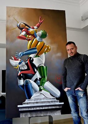 The Rape of Venus acrilico 200 x 115 a destra Roberto Mazzeo