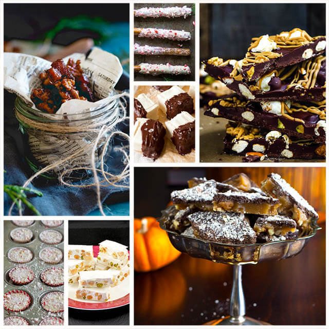 70+ Homemade Christmas Food Gifts: Candies Recipes Like Toffees, Nougats, Marshmallows, Barks & Brittles